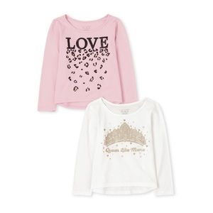 NWT Children's Place Girls Long Sleeve Top Set 3T